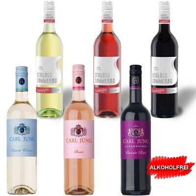 6 x 75 cl Alkoholfreier Wein 2x Weiss 2x Rose 2x Rot