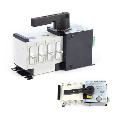 Automatic Transfer Switch 4p 100a 400v Dual Power Generator Changeover 37v-440v