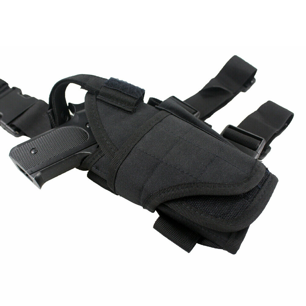 Universal Right Hand Draw Drop Leg Pistol Holster Thigh Holster With Mag Pouch - $13.45
