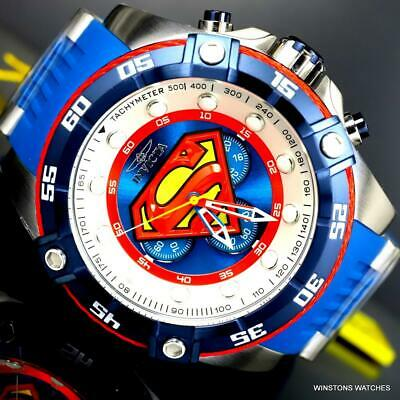 Invicta DC Comics Superman Blue Limited Edition 52mm Chronograph Watch New