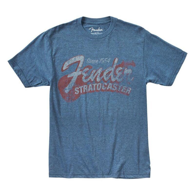 Fender Since 1954 Strat T-Shirt Blue XXL 9101290887