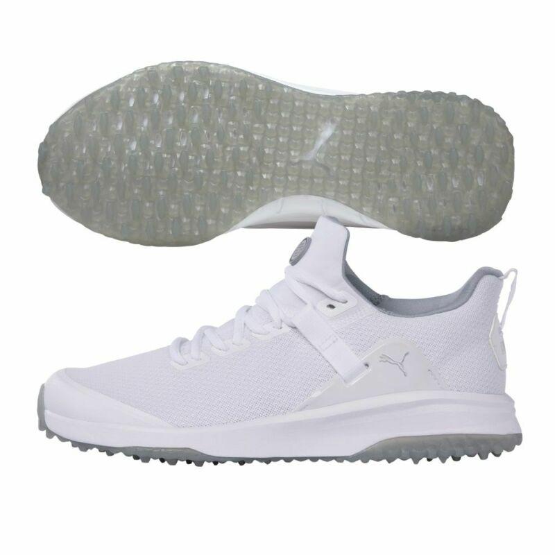 Puma Mens Fusion EVO Extra Wide Golf Shoes - White/Grey - 19512302 - New 2021