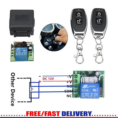 2x Remote Control Switches+Relay 12V (433MHz Transmitter + Receiver) Gate Garage