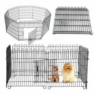 8 Panel Pet Dog Pen Puppy Rabbit Foldable Playpen Indoor Outdoor Enclosure Cage for sale  Halifax