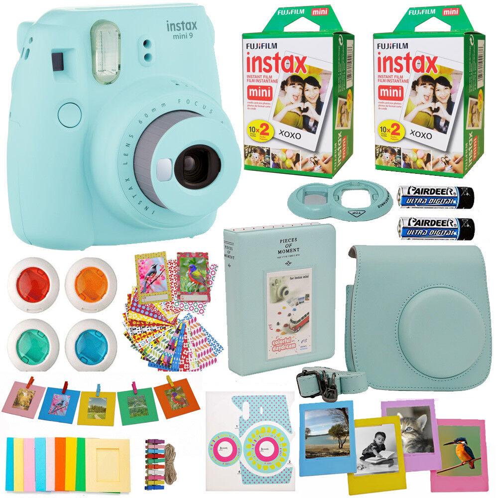 Fujifilm Instax Mini 9 Instant Camera Ice Blue +40 Film All
