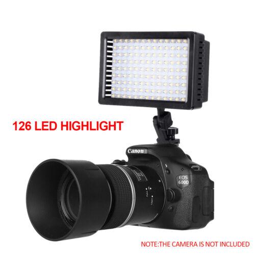 CN-126 LED Video Light Lamp For Canon Nikon DSLR Digital Cam