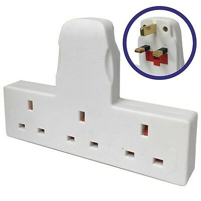 3 Way Adapter Mains Plug Adaptor Cable Free Multi-Socket Extension