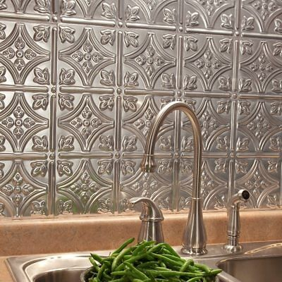 Decorative Kitchen Wall Tiles (Kitchen Backsplash Decorative Vinyl Panel Wall Tiles Bathroom Metal Tin)