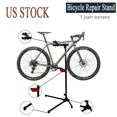 Mechanic Mountain Bike Repair Stand Adjustable Height Tool Tray Bicycle