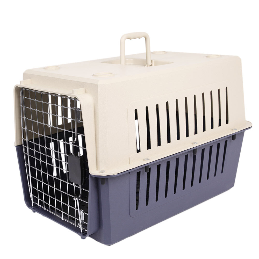 16in Small Cat Amp Dog Travel Portable Plastic Crate Pet
