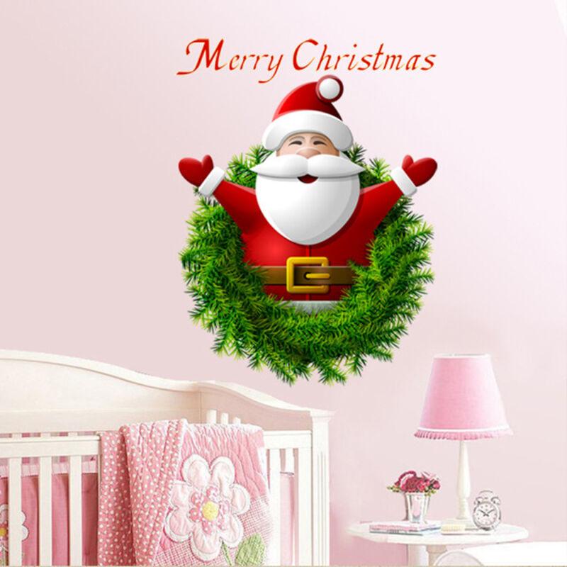 Home Decoration - Removable PVC Merry Christmas Santa Claus Wall Window Sticker Home Decor