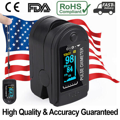 Quality Fingertip Pulse Oximeter Blood Oxygen Heart Rate Spo2 Monitor Pr Pi.