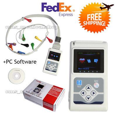 Portable 12-channel 24h Ecg Ekg Holter Analyze System Recorder Monitorsoftware