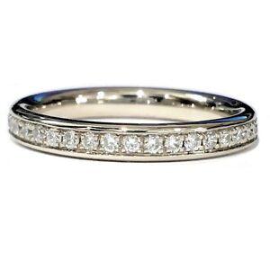 Brand New 0.50 Carat Round Diamond Pave Set Full Eternity Ring in 9k White gold