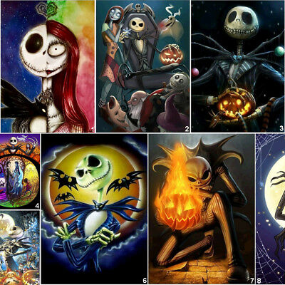 Home Diy Halloween (5D DIY Halloween skull Full Drill Diamond Painting Cross Stitch Kits Home)