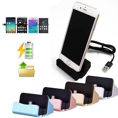 Desktop Charger Stand Dock Station Sync Charge Cradle for iPhone 5 5s SE 6 6S Desktop Charger Sync