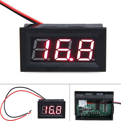 0.56 Dc 3.2-30v Ammeter Red Led Amp Two-wire Volt Meter Gauge Digital Voltmeter