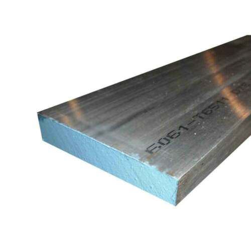 "4 Pieces 5/8""x 2"" ALUMINUM FLAT BAR 10"" long 6061 .625"" Solid Plate Mill Stock"