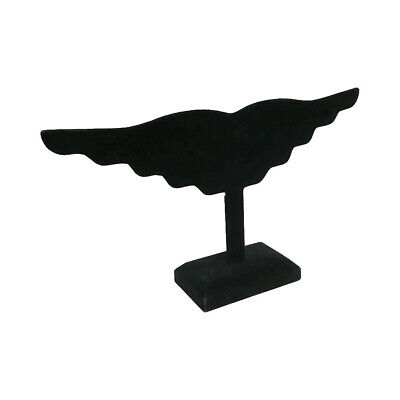 12 Earring Display Stand Holding 10 Pairs Jewelry Holder Black Velvet Wing
