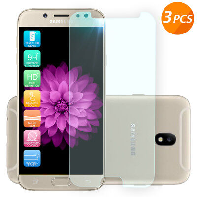 For Galaxy J7 Sky Pro/Prime/V 2017/Halo 3-Pack Tempered Glass Screen -