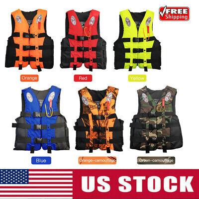 Fishing Life Jackets Water Sport Flotation Vest Boating Buoyancy Waistcoat
