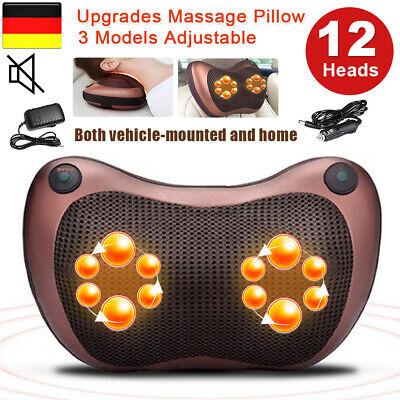 12Köpfe Massagekissen schulterMassagegerät Rücken/Nacken Multifunktion Auto/Haus