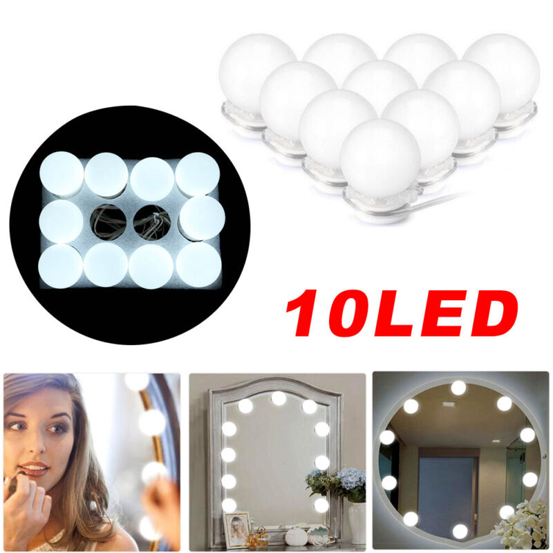 10LED Schminkspiegel Licht Schmink Lampe Spiegelleuchte für Make Up Schminktisch