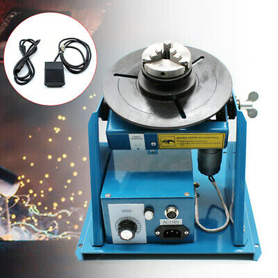 110v Mini Rotary Welding Positioner Turntable Table 2.5 3 Jaw Lathe Chuck Kit