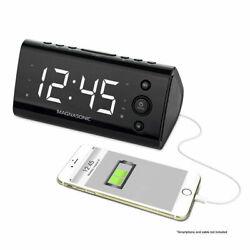 Magnasonic Alarm Clock Radio with USB Charging for Smartphones & Tablets™