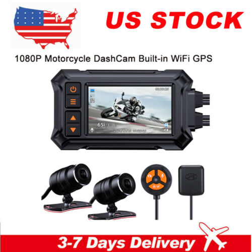 3Inch Motorcycle Dash Camera GPS Waterproof WIFI 148°Wide Angle Motion detection