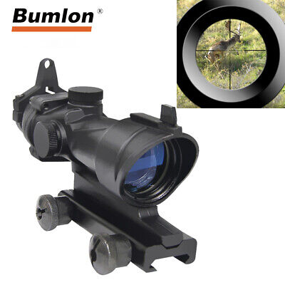 4X32 ACOG Tactical Airsoft Rifle Scope Optic Sight fit 20mm Mount for Hunting