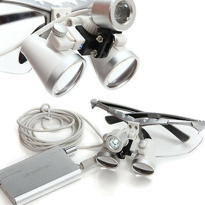 Dental Surgical Medical Binocular Loupes 3.5x 420mm Led Head Light Lamp Usa Ship