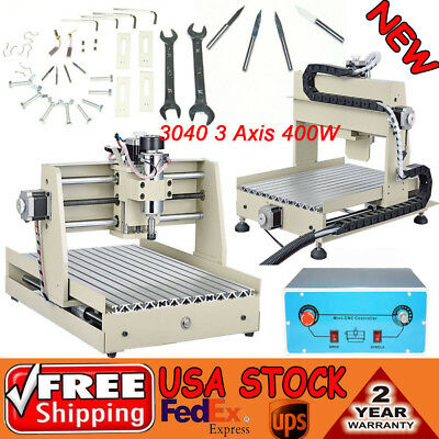 3axis Router Cnc 3040 Engraver Cutter Drilling Milling Machine 400w Woodworking