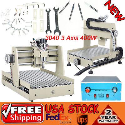 3 Axis Cnc Router Engraver Vfd 400w 3d Desktop Drilling Milling Machine 3040t
