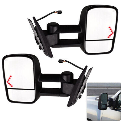 Power LED Signal Towing Mirrors for Chevy Silverado 1500 2500 2500HD 2007-2013 Chevy Silverado Towing Mirrors