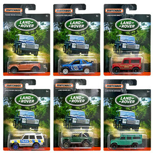 Matchbox - Diecast 6 car set - Individual cards Land Rover Range