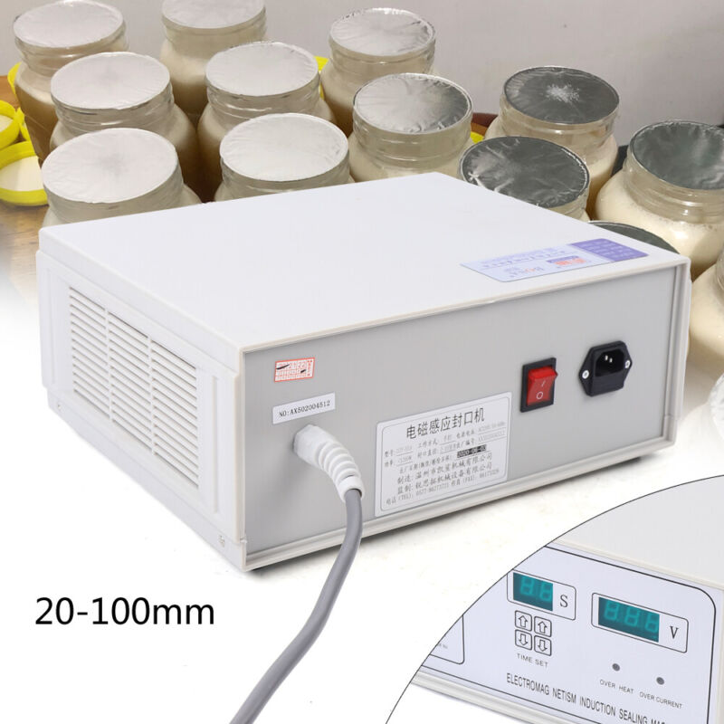 20-100mm Electromagnetic Induction Sealer Continuous Sealing Machines Packing