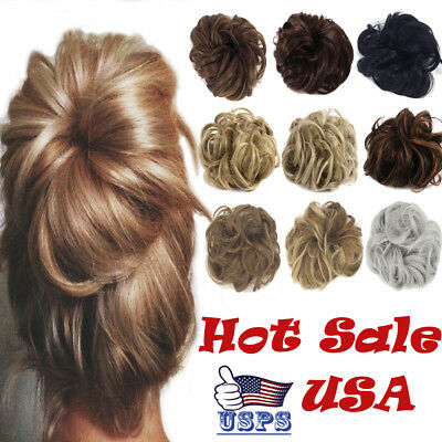 Hair piece Chignon Ponytail Hair Extensions Bun Fashion Shor