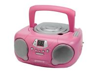 Groov-e GVPS713/PKBoombox - Portable CD Player with Radio