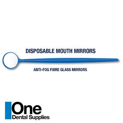Dental Disposable Mouth Mirrors Plastic 100 Pcs
