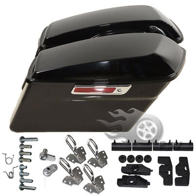 W/ Hardware Hard Saddlebags Saddle bags For Harley Touring Road King Electra New, used for sale  USA