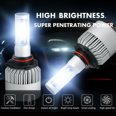 9006 HB4 1950W 292500LM CREE LED Headlight Kit Low Beam 6000K White High -