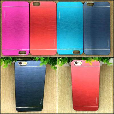 Premium Brushed Metal Aluminum Case Apple iPhone 5 SE 6 7 8 Plus X Xs + -