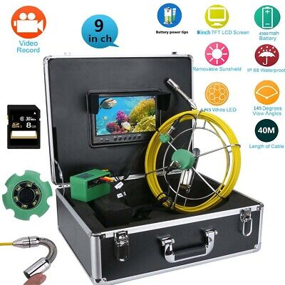 9lcd Dvr 40m Waterproof Drain Pipe Sewer Inspection Camera System 8gb Tf Card