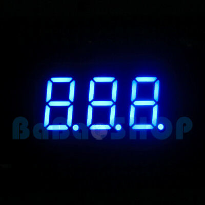 New 0.36 0.36 Inch 7 Segment Display Blue Led 3 Digit Common Anode