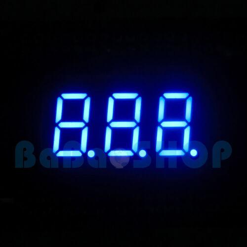 "5pcs New 0.36"" 0.36 inch 7 Segment Display Blue LED 3 Digit Common Anode"