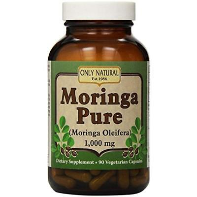 Only Natural Pure Moringa Capsules 1000 Mg Rich in Vitamins A, B, C  90 - Only Natural Vitamin C Vitamins