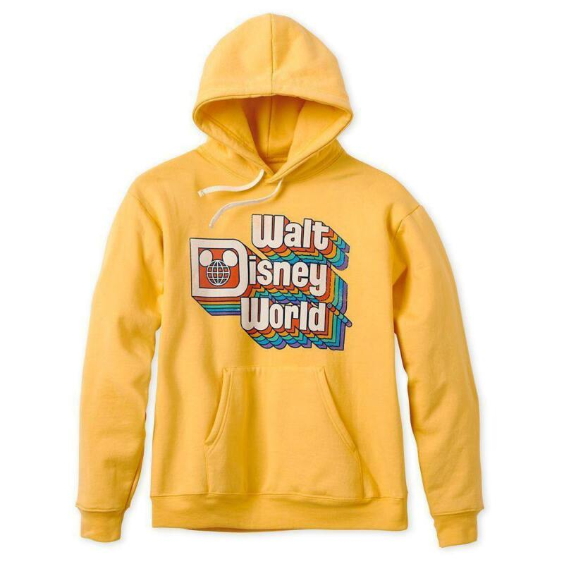Walt Disney World Retro Hoodie for Adults-Yellow