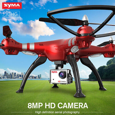 SYMA X8HG 8.0MP 1080P 720P HD Camera RC Drone Quadcopter Altitude Hold Xmas Gift