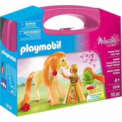 Playmobil 5656 Princess Fantasy Horse Carry Case Includes Horse & Figure - NEW